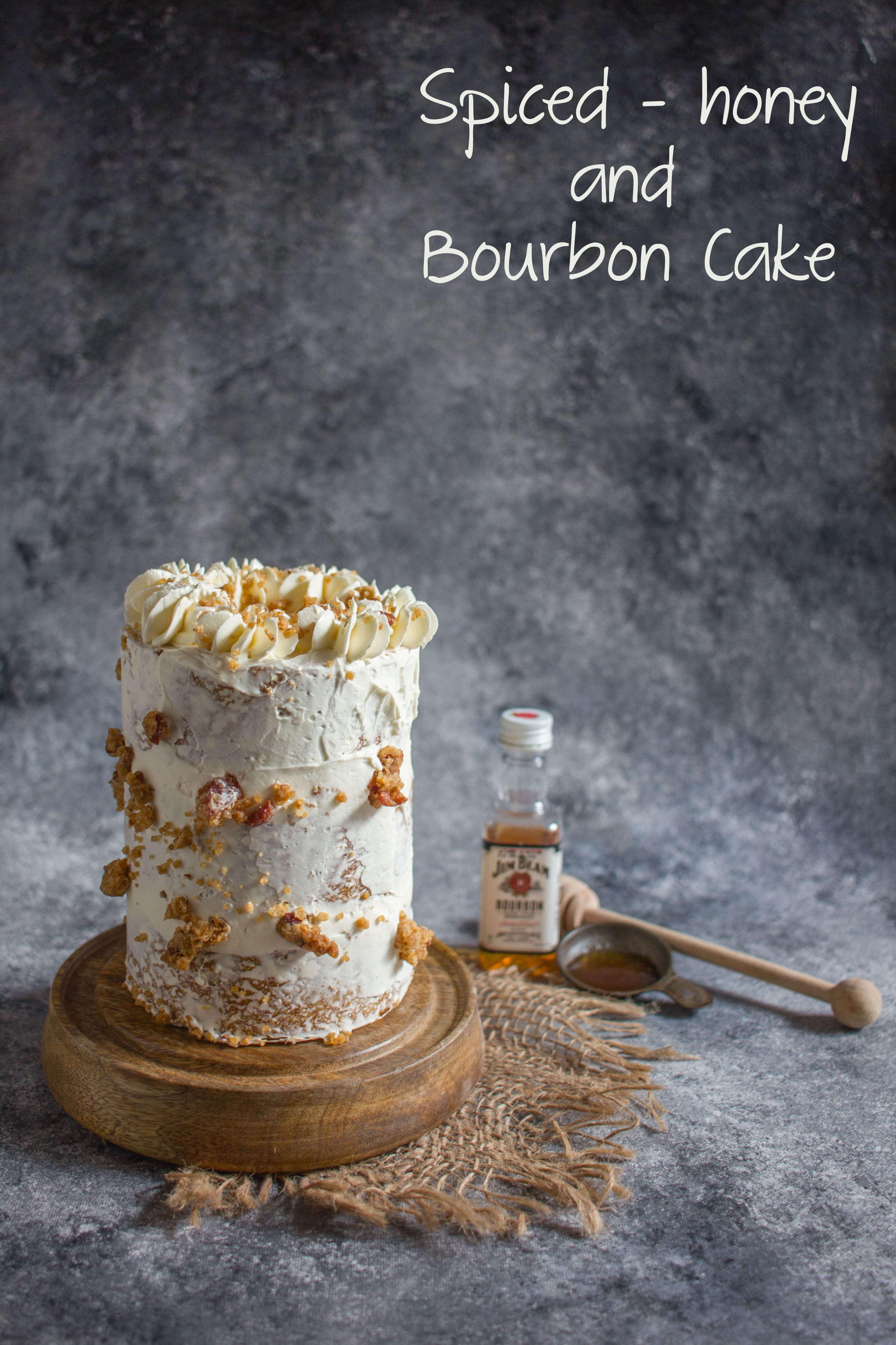 Jasons Birthday Cake 2017 Spiced Honey And Bourbon Cake Lil
