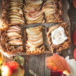 apple galette with rye crust and maple cream | lilcupcakemonkey.com