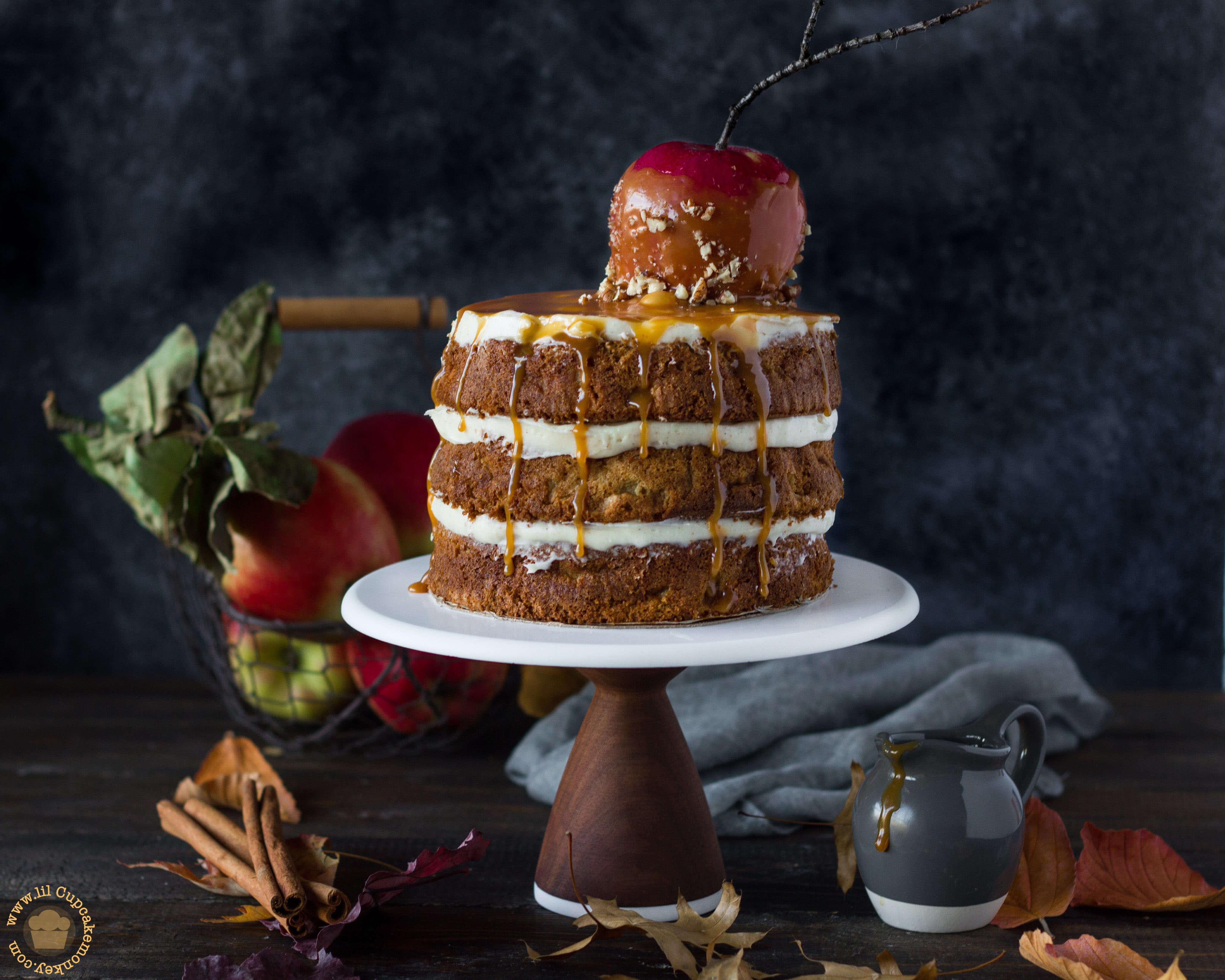 Caramel Apple cake | lilcupcakemonkey.com