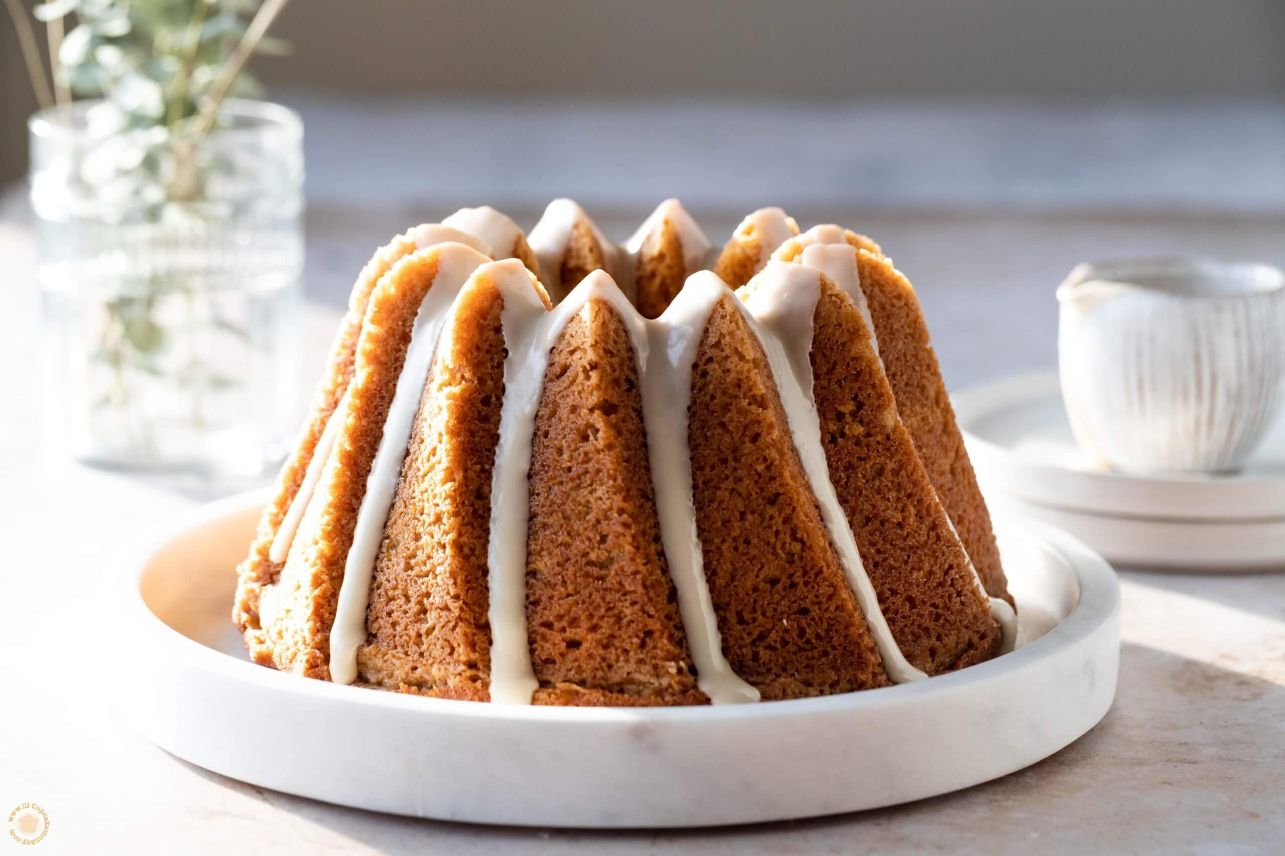 Brown butter bourbon bundt cake
