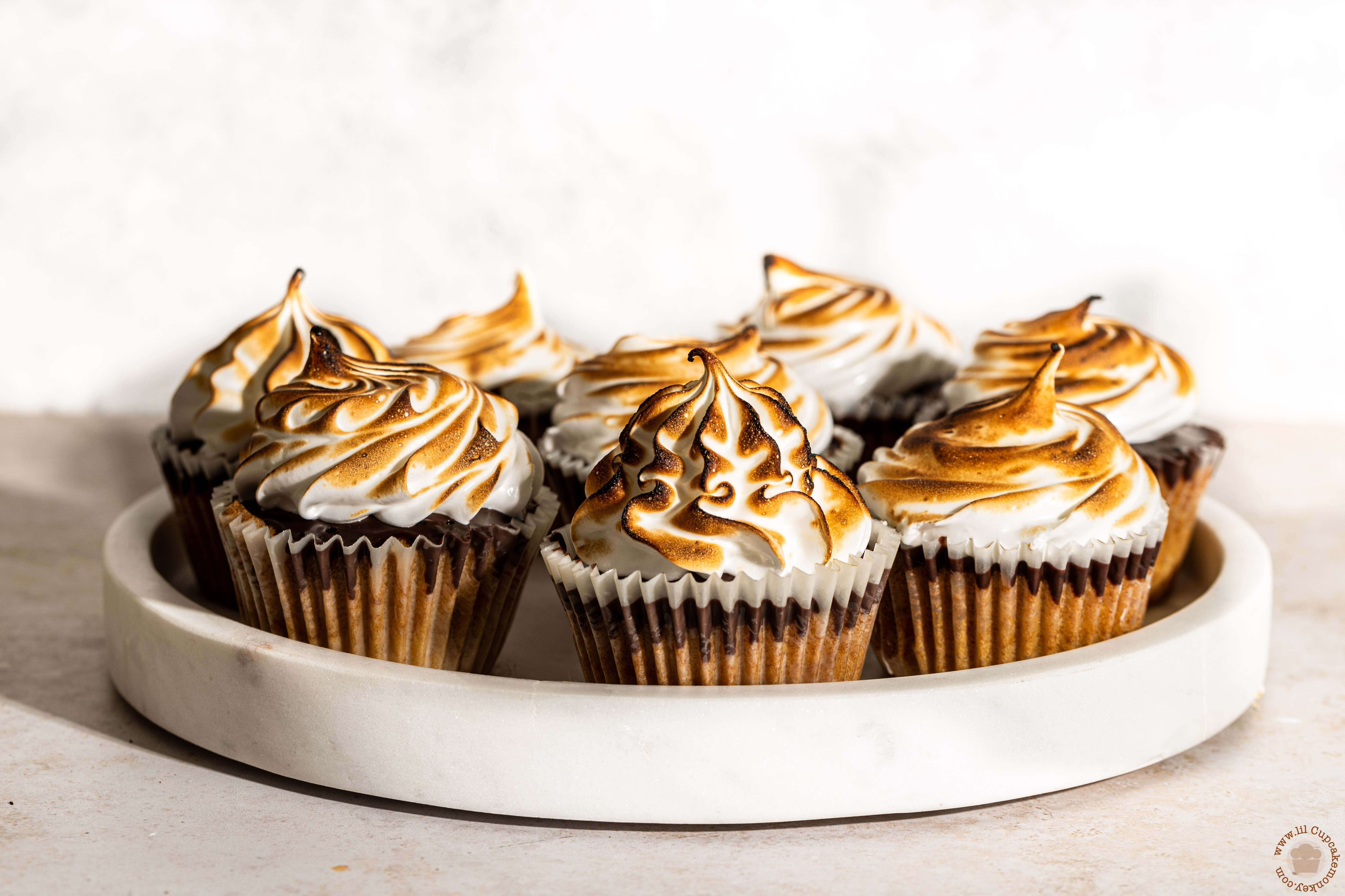 S'mores cupcakes with speculoos and BC EGG
