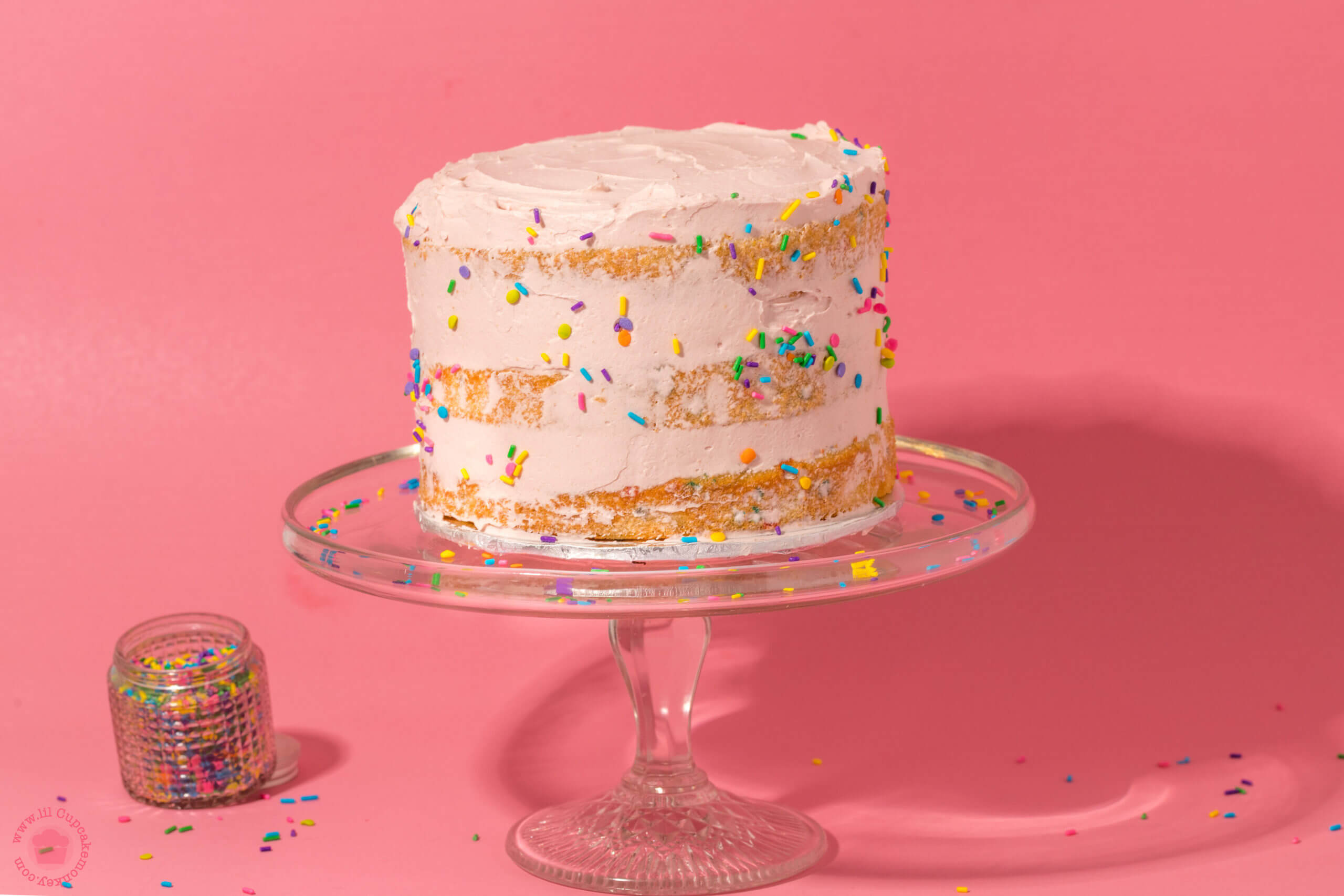 confetti cake with ruby chocolate