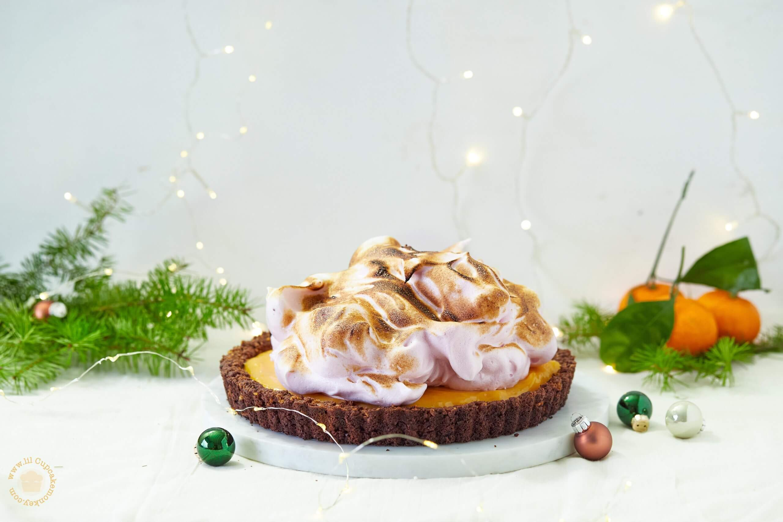 Cranberry and Orange Meringue Pie