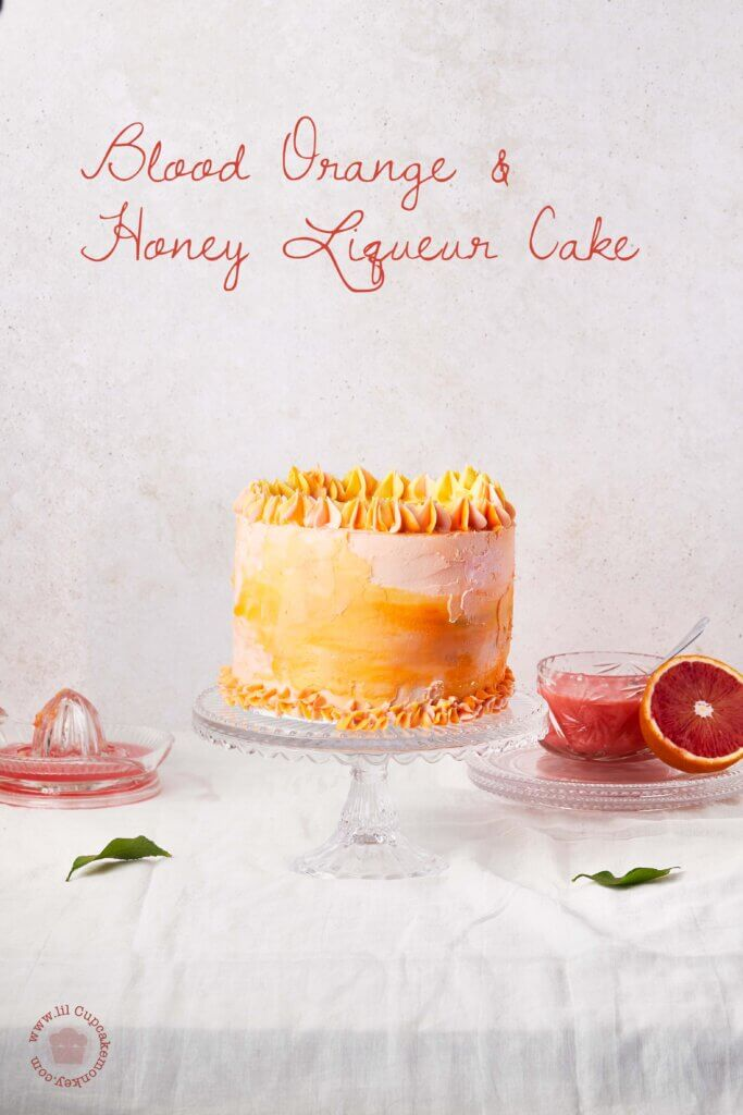 blood orange and honey liqueur cake | lilcupcakemonkey.com