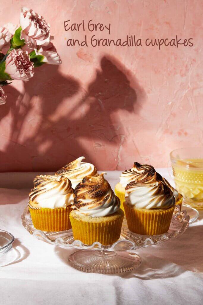 earl grey cupcakes and granadilla cupcakes | lilcupcakemonkey.com