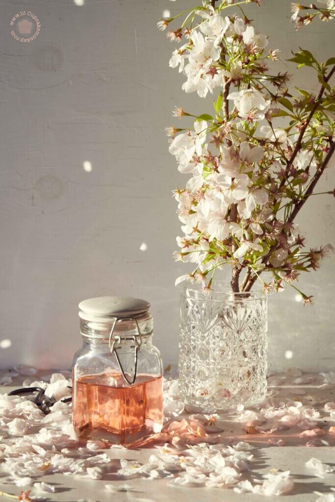 Cherry Blossom Simple syrup | lilcupcakemonkey.com