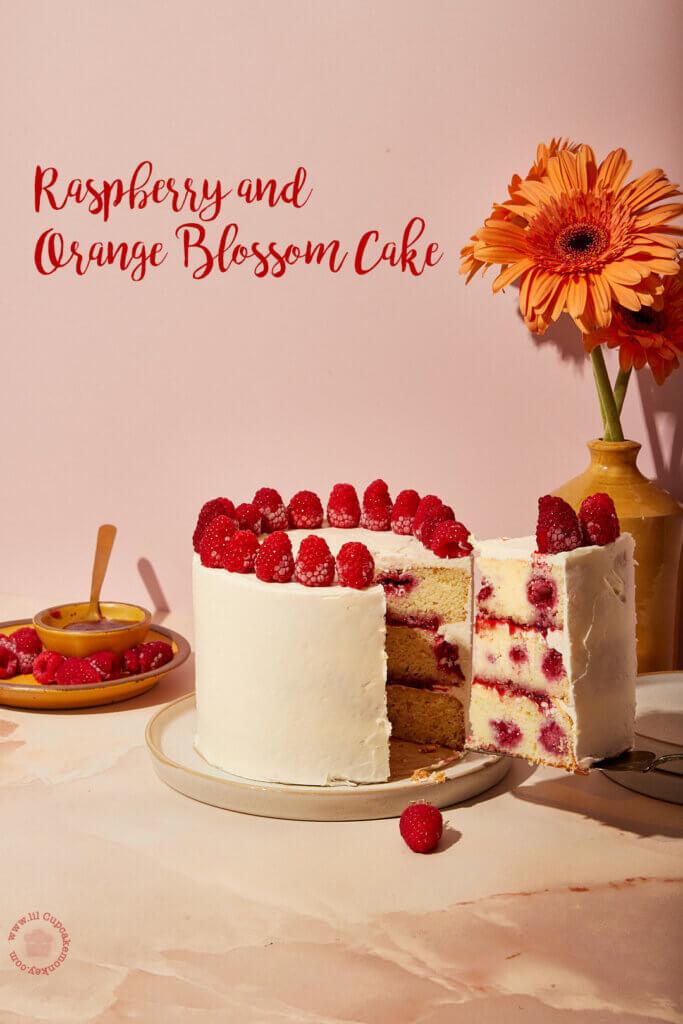 Raspberry and Orange Blossom Cake